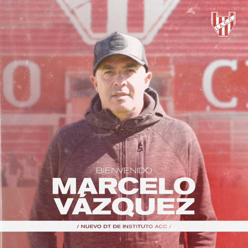 Instituto oficializó a Marcelo Vázquez como nuevo entrenador   Canal Showsport