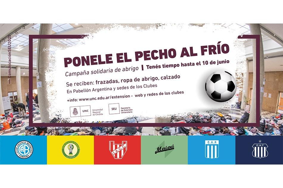 """""""Ponele el pecho al frío"""", la campaña que incentiva la UNC y los clubes de Córdoba   Canal Showsport"""