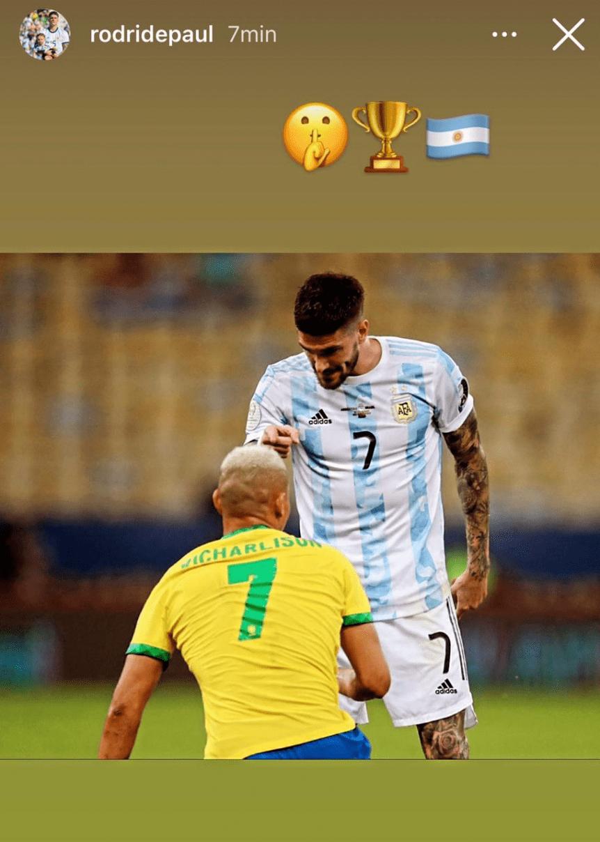El fuego cruzado en redes sociales entre De Paul y los jugadores brasileños   Canal Showsport
