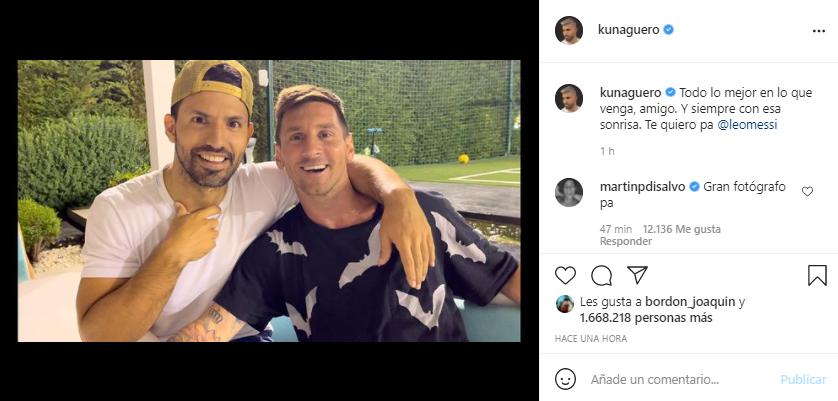 """Cena de despedida en la casa de Messi: """"Te quiero, pa"""", escribió Agüero   Canal Showsport"""