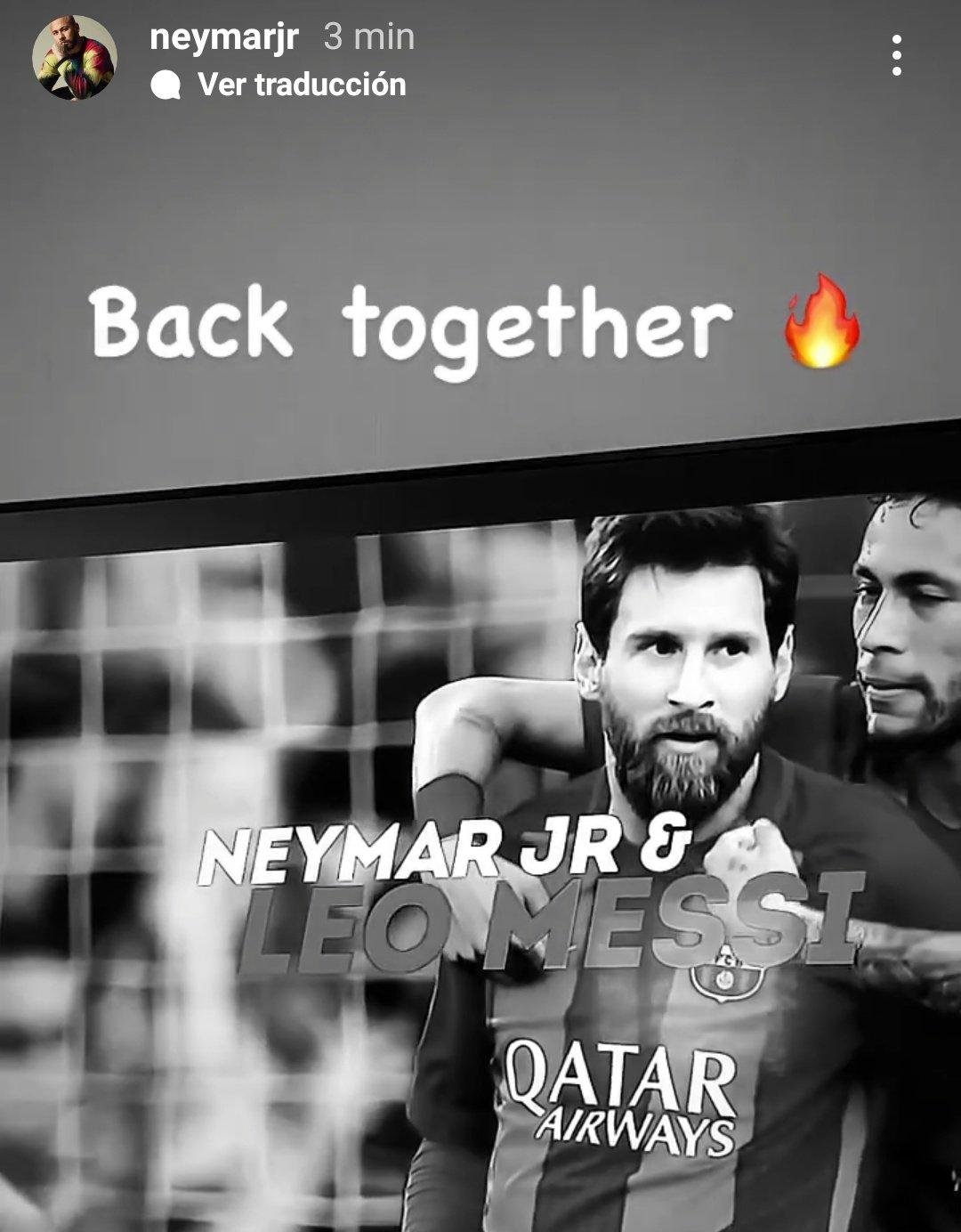 "Neymar y la bienvenida a Messi: ""Back together""   Canal Showsport"