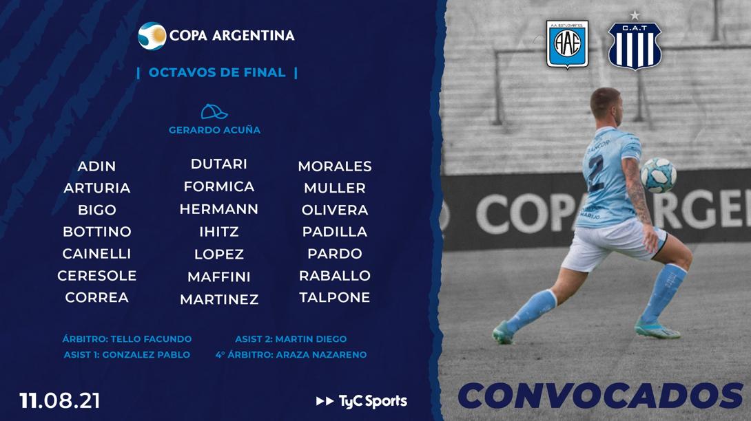 Los concentrados de Estudiantes RC para el duelo ante Talleres por Copa Argentina   Canal Showsport